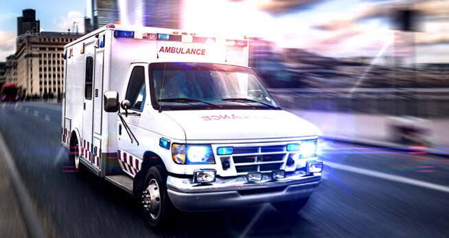 Accident with an emergency vehicle in San Diego