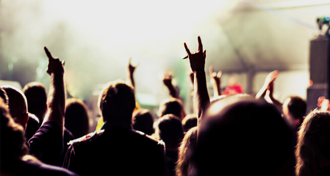 People enjoying a concert