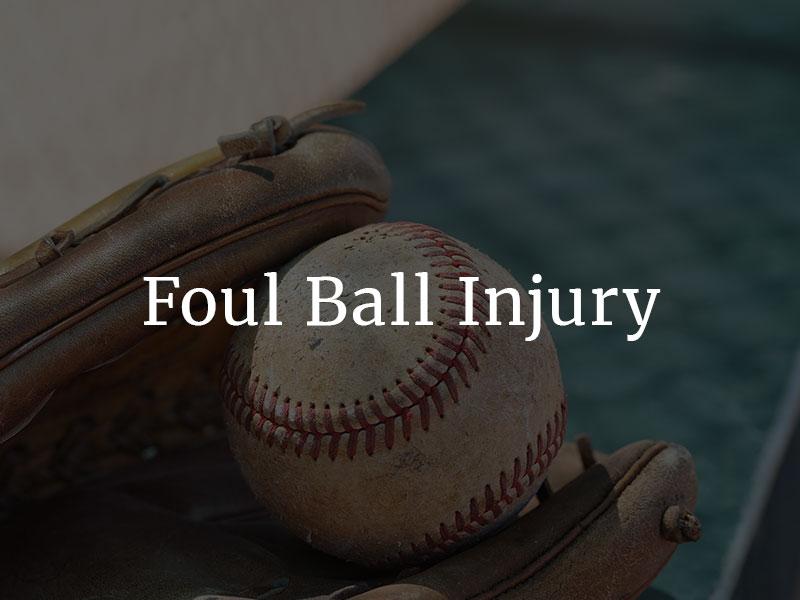 Foul Ball Injuries