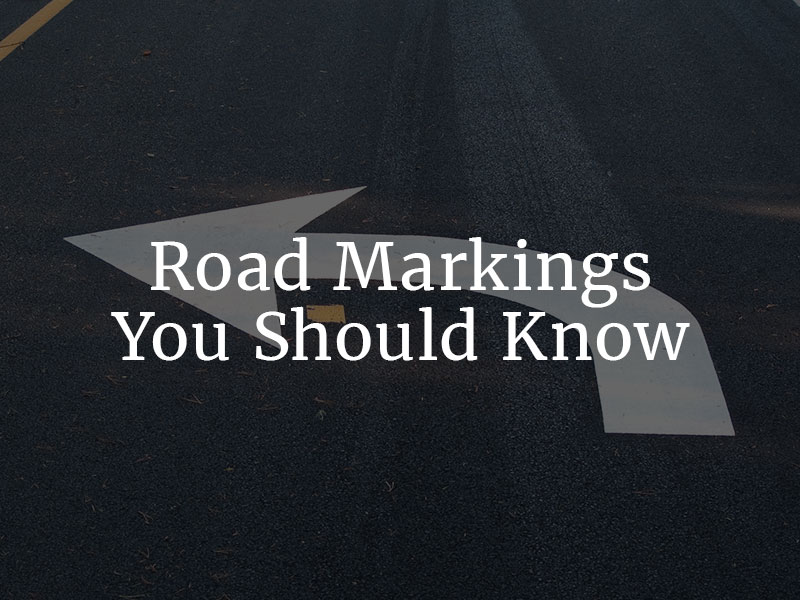 Road Markings You Should Know