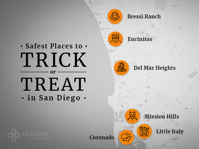 Safest places to trick or treat in San Diego