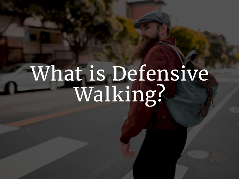 What is defensive walking?