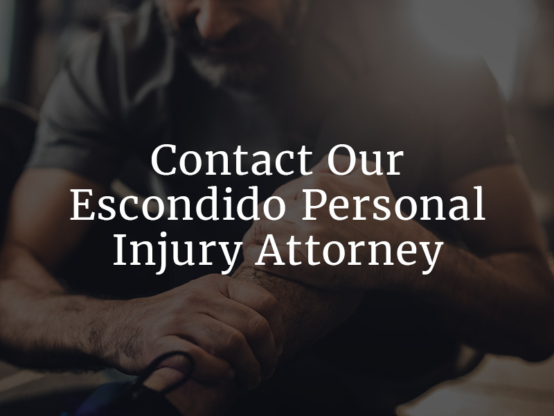 Contact our Escondido Personal Injury Attorney